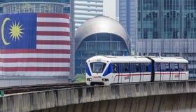 Τραίνο της Μαλαισίας LRT Στοκ Εικόνα