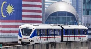 Τραίνο της Μαλαισίας LRT Στοκ Εικόνες