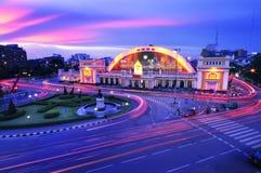 τραίνο της Ταϊλάνδης σταθμώ& Στοκ εικόνα με δικαίωμα ελεύθερης χρήσης