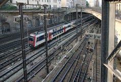 τραίνο του Παρισιού Στοκ Εικόνες