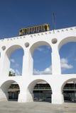 Τραίνο τραμ Bonde Arcos DA Lapa στο Ρίο ντε Τζανέιρο Βραζιλία αψίδων Στοκ φωτογραφίες με δικαίωμα ελεύθερης χρήσης