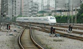 τραίνο υψηλής ταχύτητας τη&s Στοκ εικόνα με δικαίωμα ελεύθερης χρήσης