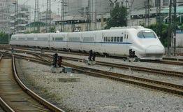 τραίνο υψηλής ταχύτητας τη&s Στοκ Εικόνες