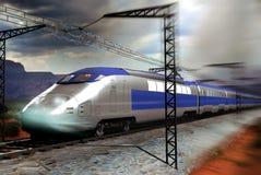 τραίνο υψηλής ταχύτητας απεικόνιση αποθεμάτων