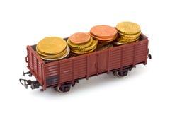τραίνο χρημάτων στοκ φωτογραφίες