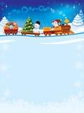τραίνο Χριστουγέννων Στοκ εικόνα με δικαίωμα ελεύθερης χρήσης