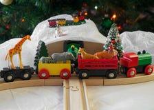 Τραίνο Χριστουγέννων Στοκ εικόνες με δικαίωμα ελεύθερης χρήσης