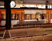 τραίνο 2 σταθμών Στοκ Φωτογραφίες