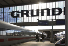 τραίνο 2 σταθμών Στοκ εικόνες με δικαίωμα ελεύθερης χρήσης