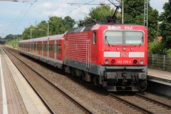 Τραίνο Bahn Deutsche Στοκ φωτογραφία με δικαίωμα ελεύθερης χρήσης