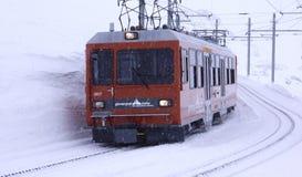 Τραίνο Gornergrat Στοκ εικόνα με δικαίωμα ελεύθερης χρήσης