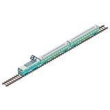 Τραίνο isometric Στοκ φωτογραφία με δικαίωμα ελεύθερης χρήσης