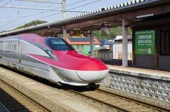 Τραίνο Komachi Shinkansen Στοκ εικόνα με δικαίωμα ελεύθερης χρήσης