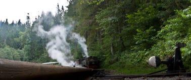 τραίνο «mocanita» - Maramures Στοκ Φωτογραφία