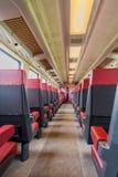 Τραίνο NS μέσα στην είσοδο στη πρώτη θέση αυτοκινήτων τραίνων Στοκ Φωτογραφία