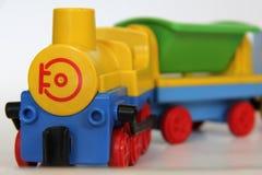 Τραίνο Playmobil - κινητήριος στενός επάνω Στοκ Εικόνες