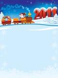 τραίνο santa Claus διανυσματική απεικόνιση
