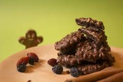 Τραγανά μπισκότα σοκολάτας για τα Χριστούγεννα Στοκ Εικόνα