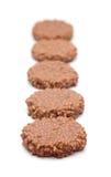Τραγανά ρύζι σοκολάτας και κέικ καραμέλας Στοκ Φωτογραφία