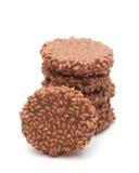 Τραγανά ρύζι σοκολάτας και κέικ καραμέλας Στοκ φωτογραφία με δικαίωμα ελεύθερης χρήσης