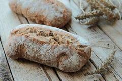 Τραγανοί ρόλοι ψωμιού Στοκ Εικόνες