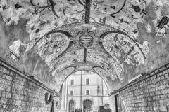 Τραγελαφικές νωπογραφίες σε ένα θολωτό arcade σε Assisi, κεντρική Ιταλία Στοκ φωτογραφίες με δικαίωμα ελεύθερης χρήσης