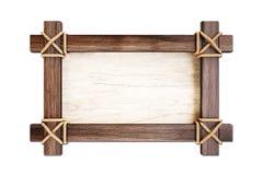 Τραγουδήστε ξύλινο στο άσπρο υπόβαθρο στοκ φωτογραφίες
