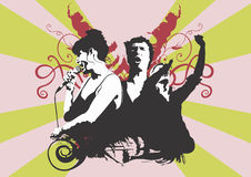 τραγουδιστές στοκ εικόνες με δικαίωμα ελεύθερης χρήσης