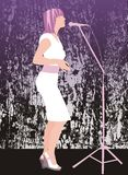 τραγουδιστής αποπνικτικός Στοκ Εικόνες
