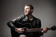 τραγουδιστής βράχου Στοκ εικόνα με δικαίωμα ελεύθερης χρήσης