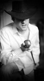 τραγουδιστής κάουμποϋ Στοκ εικόνες με δικαίωμα ελεύθερης χρήσης