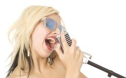 τραγουδιστής μουσικής Στοκ φωτογραφίες με δικαίωμα ελεύθερης χρήσης