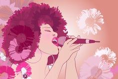 Τραγουδιστής τζαζ ελεύθερη απεικόνιση δικαιώματος