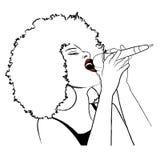 Τραγουδιστής τζαζ απεικόνιση αποθεμάτων
