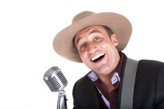 Τραγουδιστής της μουσικής country στοκ εικόνες
