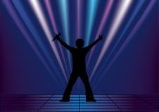 Τραγουδιστής διανυσματική απεικόνιση