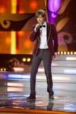 Τραγουδιστής Mark Tishman στο μουσικό πρόγραμμα Στοκ εικόνα με δικαίωμα ελεύθερης χρήσης