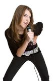 τραγουδώντας έφηβος κο&rho Στοκ Φωτογραφίες