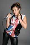 τραγουδώντας έφηβος στοκ εικόνα με δικαίωμα ελεύθερης χρήσης