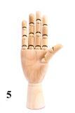 Τραγουδήστε του αριθμού πέντε από το ξύλινο χέρι στοκ εικόνα με δικαίωμα ελεύθερης χρήσης