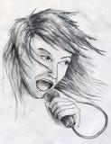 Τραγουδιστής αστέρων της ροκ Στοκ φωτογραφία με δικαίωμα ελεύθερης χρήσης