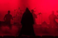Τραγουδιστής βράχου στην εικόνα του κακού Στοκ εικόνα με δικαίωμα ελεύθερης χρήσης