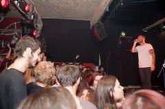 Τραγουδιστής και ακροατήριο Στοκ φωτογραφίες με δικαίωμα ελεύθερης χρήσης