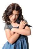 Τραγουδιστής νέων κοριτσιών με την τοποθέτηση Στοκ Εικόνες