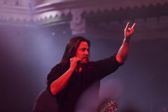 Τραγουδιστής σε μια συναυλία βράχου Στοκ φωτογραφία με δικαίωμα ελεύθερης χρήσης