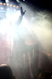Τραγουδιστής στη σκηνή Στοκ Φωτογραφίες