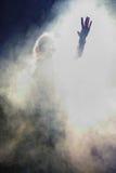 Τραγουδιστής στη σκηνή Στοκ φωτογραφία με δικαίωμα ελεύθερης χρήσης
