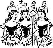 Τραγουδώντας αδελφές Στοκ Φωτογραφίες