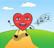Τραγουδώντας καρδιά Στοκ Εικόνες