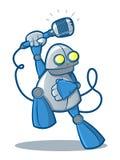 Τραγουδώντας ρομπότ Στοκ εικόνες με δικαίωμα ελεύθερης χρήσης